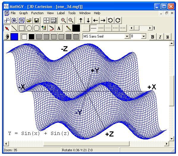 screen1 رسم نمودار توابع با MathGV
